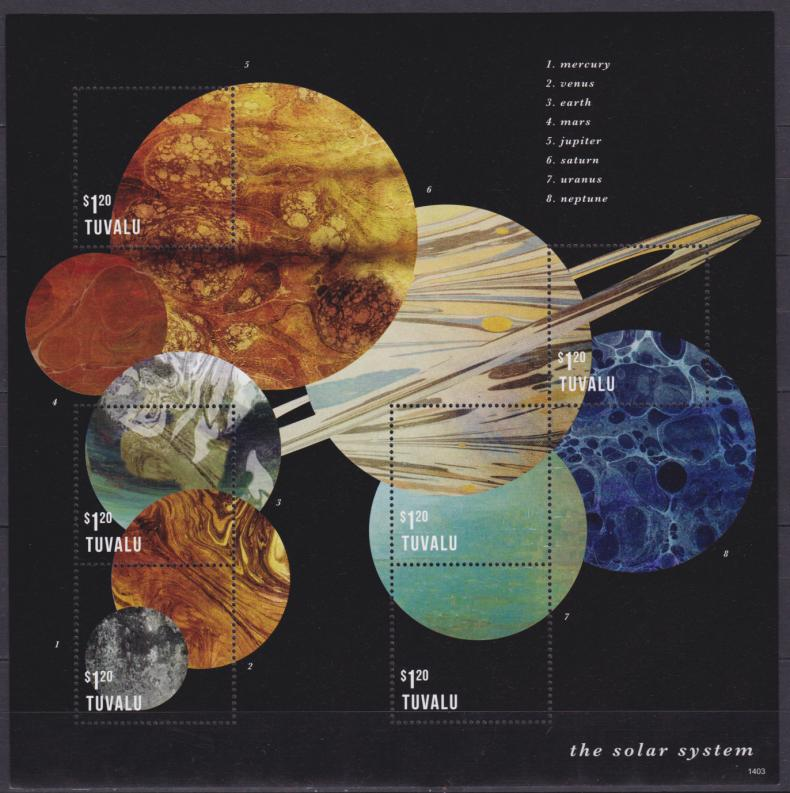 planets postage us postal service issues new solar system - 790×793